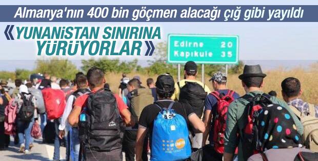 Suriyeliler Almanya'ya gitmek için Edirne'ye akın etti