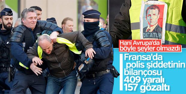 Fransa'da akaryakıt zamları protestolarında 409 yaralı