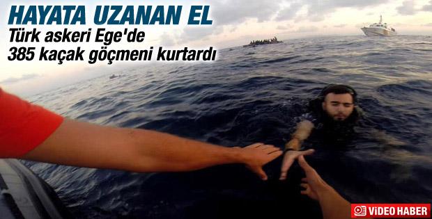 Sahil Güvenlik Komutanlığı 385 göçmeni kurtardı İZLE
