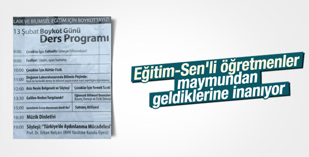 Ankara'da laik eğitim için alternatif ders programı