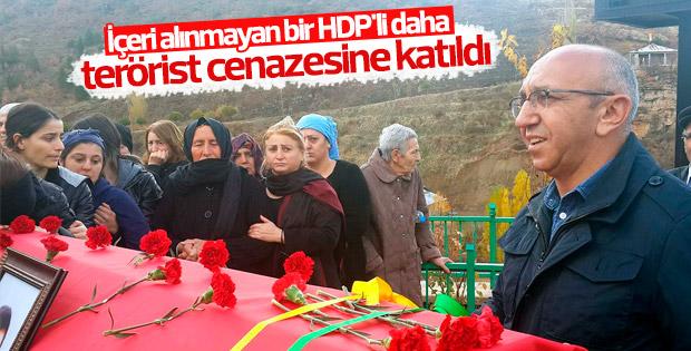 HDP'li vekil Alican Önlü terörist cenazesine katıldı