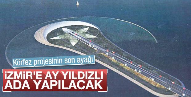 İzmir'e 800 metrelik ay yıldız adası yapılacak