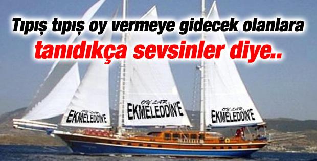 Ekmeleddin İhsanoğlu için yatlı reklam