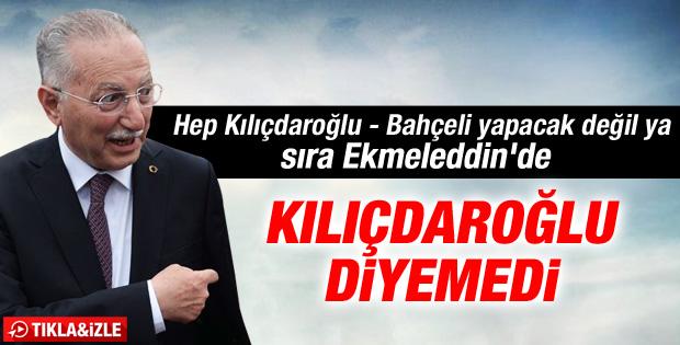 İhsanoğlu Kılıçdaroğlu'nun soyismini yanlış söyledi