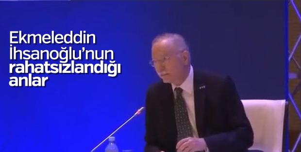 Ekmeleddin İhsanoğlu'nun kalp krizi geçirdiği anlar