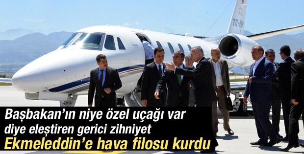 Ekmeleddin İhsanoğlu'na jet ve helikopter kiraladılar