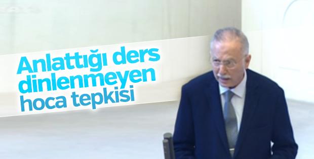 Ekmeleddin İhsanoğlu'nu Meclis'te kimse dinlemedi