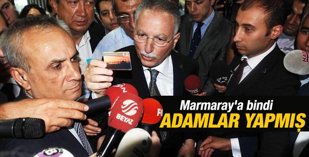 Ekmeleddin İhsanoğlu Marmaray'a bindi İZLE