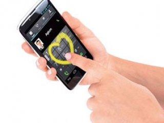 Ekrana kalp çizerek arama yapan telefon