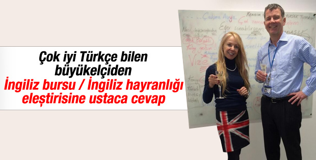 İngiliz Büyükelçiden Türkçe kapak