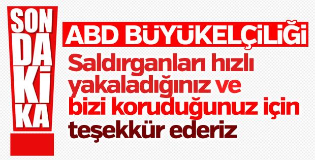 ABD Büyükelçiliği, Türkiye'ye teşekkür etti