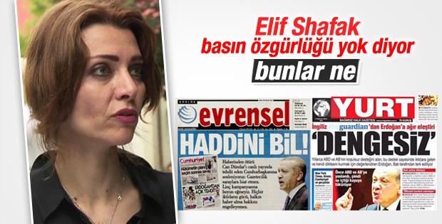 Elif Şafak Türkiye'yi dünyaya şikayet ediyor ama...