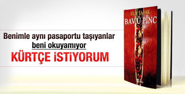 Elif Şafak: Kitaplarım Kürtçe'ye çevrilsin