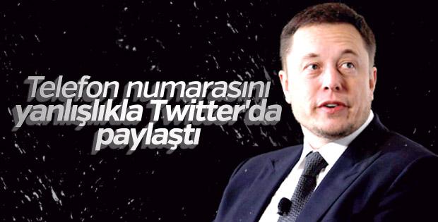 Elon Musk Twitter'da cep telefonu numarasını paylaştı