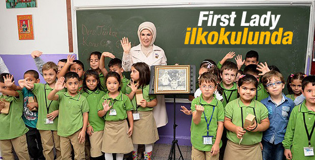 Emine Erdoğan ilkokulunu ziyaret etti