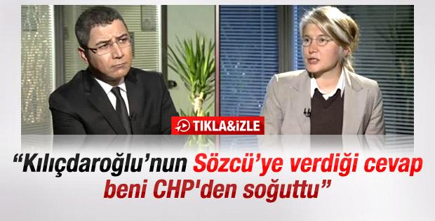 Tarhan: Kılıçdaroğlu'nun yanıtı beni CHP'den soğuttu