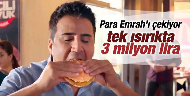 Emrah oynadığı reklamdan 2 milyon 800 bin TL aldı