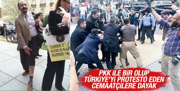 PKK Cemaat el ele Türkiye'yi protesto etti