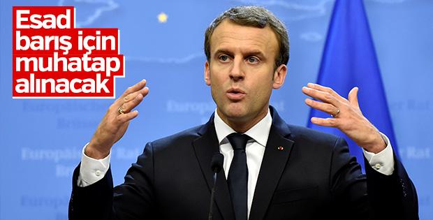 Macron: Esad halkı önünde hesap vermeli