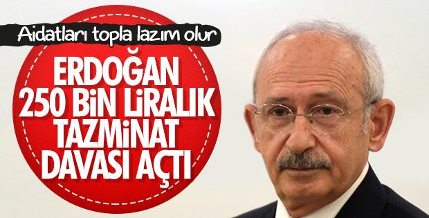 Başkan Erdoğan'dan Kılıçdaroğlu'na 250 bin liralık dava