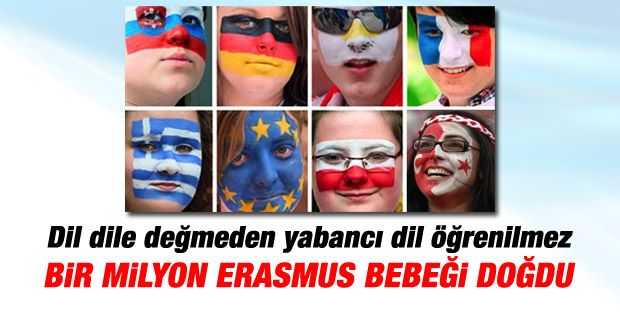 Erasmus projesi ile 1 milyon çocuk dünyaya geldi