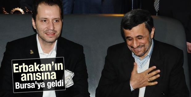 Ahmedinejad Erbakan için Bursa'ya geldi