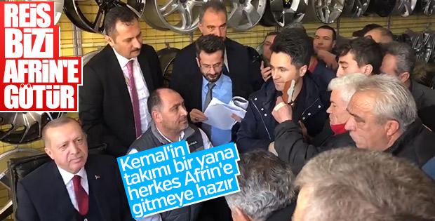 Cumhurbaşkanı Erdoğan'ın esnaf ziyareti