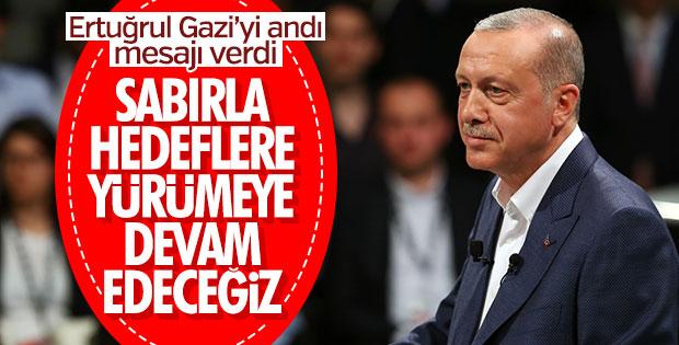 Erdoğan Ertuğrul Gazi'yi andı