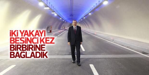 Avrasya Tüneli'nden ilk geçişi Erdoğan yaptı