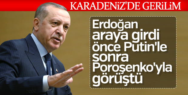 Başkan Erdoğan Putin ve Poroşenko ile görüştü