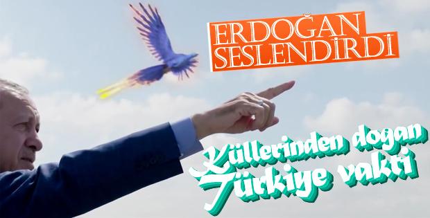 Erdoğan ve AK Parti'nin zümrüdüanka temalı reklamı