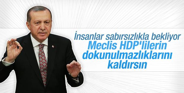 Cumhurbaşkanı Erdoğan: Dokunulmazlıklar kaldırılmalı