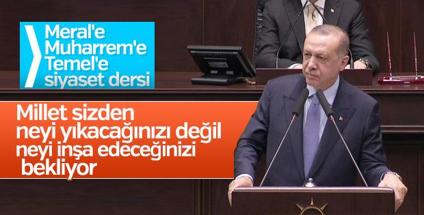 Cumhurbaşkanı Erdoğan muhalefete siyaset dersi verdi
