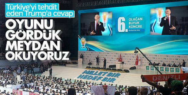 Erdoğan'dan Trump'ın tehdidine yanıt: Meydan okuyoruz