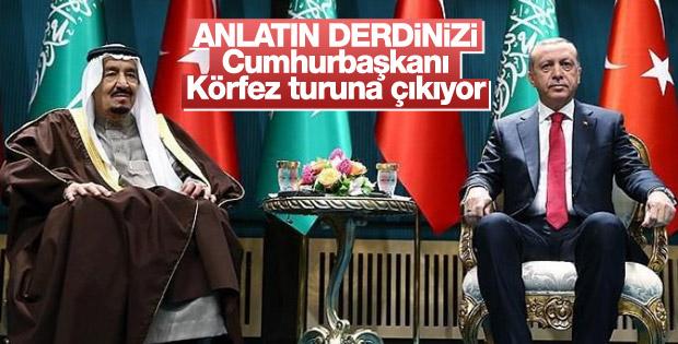 Cumhurbaşkanı Erdoğan'dan Körfez turu