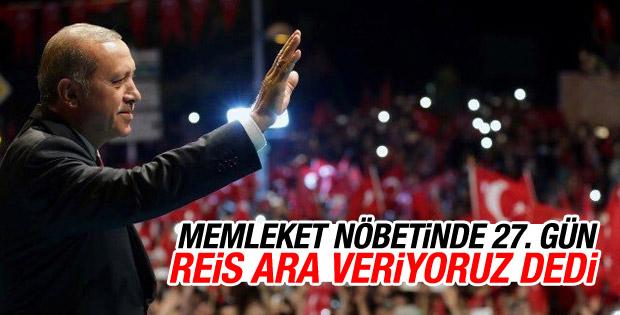 Cumhurbaşkanı Erdoğan Beştepe'de vatandaşlarla buluştu