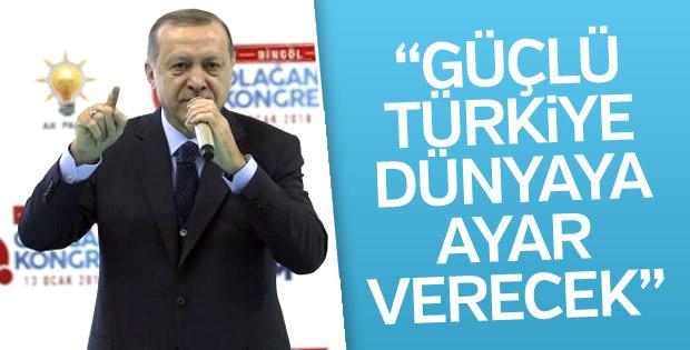 Cumhurbaşkanı Erdoğan: Güçlü Türkiye dünyaya ayar verecek