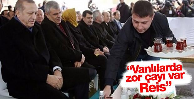 Cumhurbaşkanı Erdoğan'a çay sürprizi