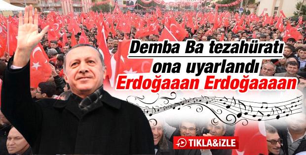 Erdoğan'a Demba Ba bestesi sürprizi - İzle