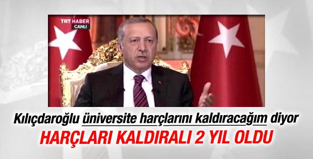 Erdoğan: Kılıçdaroğlu'nun kaldıracağız dediği harçlar yok