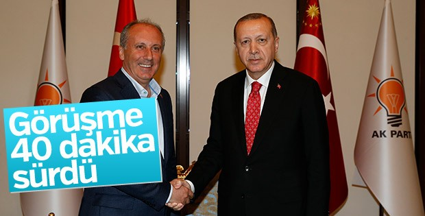 Erdoğan-İnce görüşmesi sona erdi