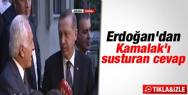 Başbakan Erdoğan Kamalak'ın sözlerini düzeltti