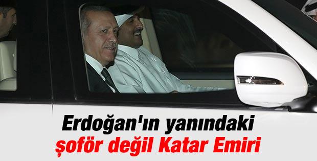 Katar Emiri Cumhurbaşkanı Erdoğan'ın şoförü oldu