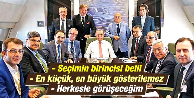 Erdoğan: Hükümet kurma görevi seçimin birincisine verilir