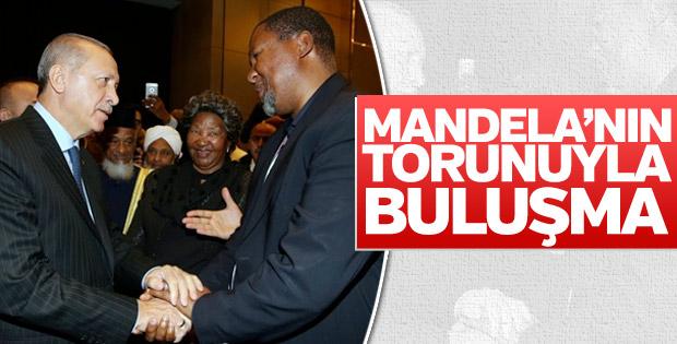 Başkan Erdoğan, Mandela'nın torunu ile görüştü