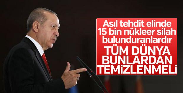 Erdoğan: Tüm dünya nükleer silahlardan temizlenmeli