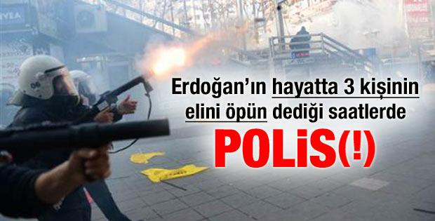 Ankara'da öğretmenlere sert müdahale