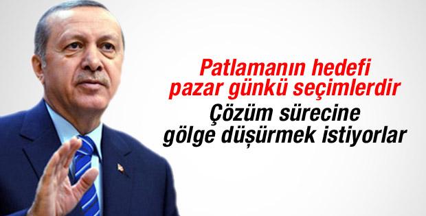 Cumhurbaşkanı Erdoğan: Patlamanın hedefi seçimler