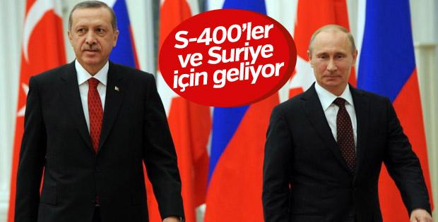 Cumhurbaşkanı Erdoğan ile Putin Türkiye'de görüşecek