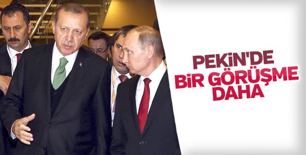Erdoğan ve Putin Pekin'de görüştü